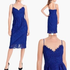 NWT J Crew Corded Lace Spaghetti Strap Dress Sz4